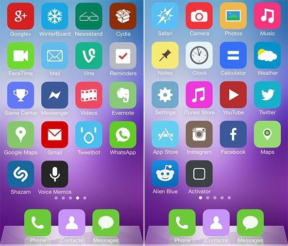 Colorize 7 tema iphone