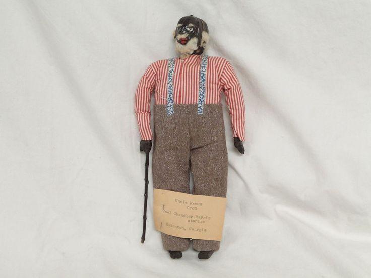 Black Americana Uncle Remus Handmade Walnut Wood Doll Joel Chandler Harris #black #americana #joel #chandler    1002