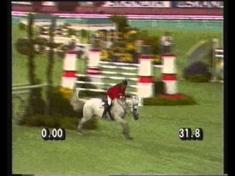 Greg Best and Thoroughbred jumper Gem Twist at 1990 World Championships in Stockholm. Amazing athletes!
