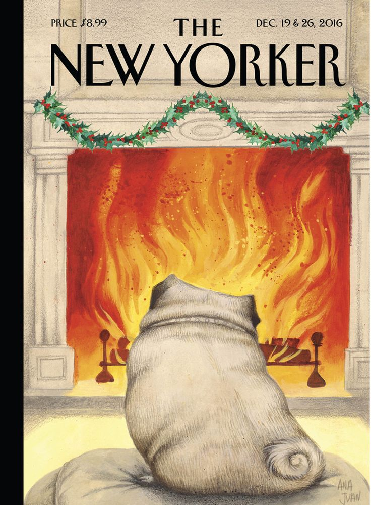 "Cover Story: Ana Juan's ""Yule Dog"" - The New Yorker"
