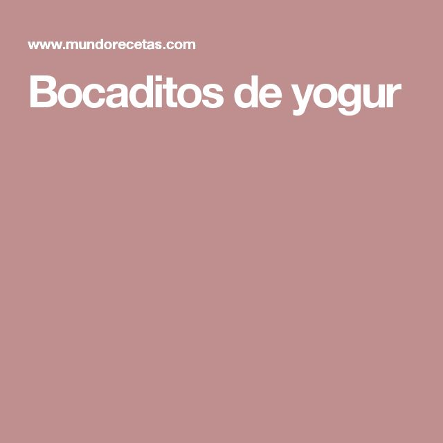 Bocaditos de yogur