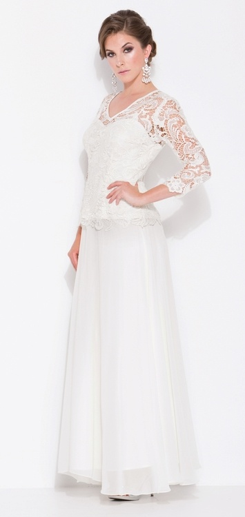 Long Mother of the Bride Dresses with Lace Bodice