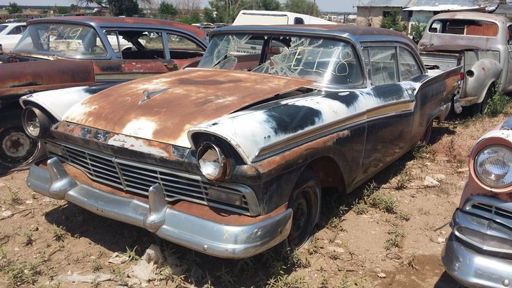 Scrap Cars Near Me >> 1957-Ford | Abandoned cars, Rusty cars, Old classic cars