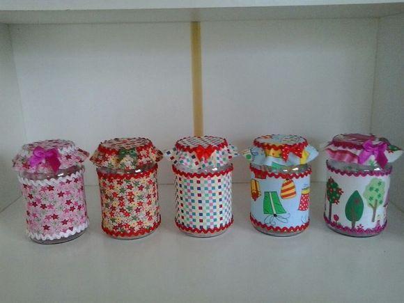 potes decorados com tecido - Pesquisa Google