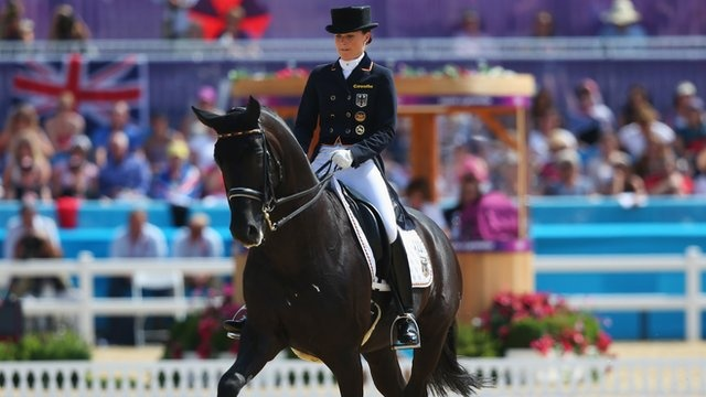 Charlotte Dujardin won Britain's second dressage gold medal of London 2012 with a remarkable individual victory.