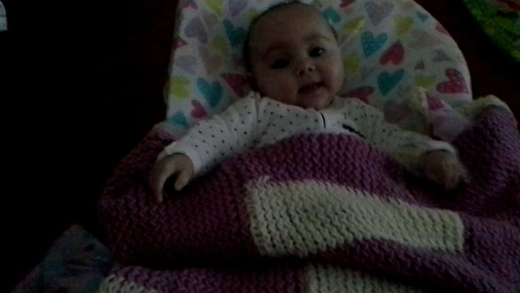 Evelyn's loomed baby blanlet