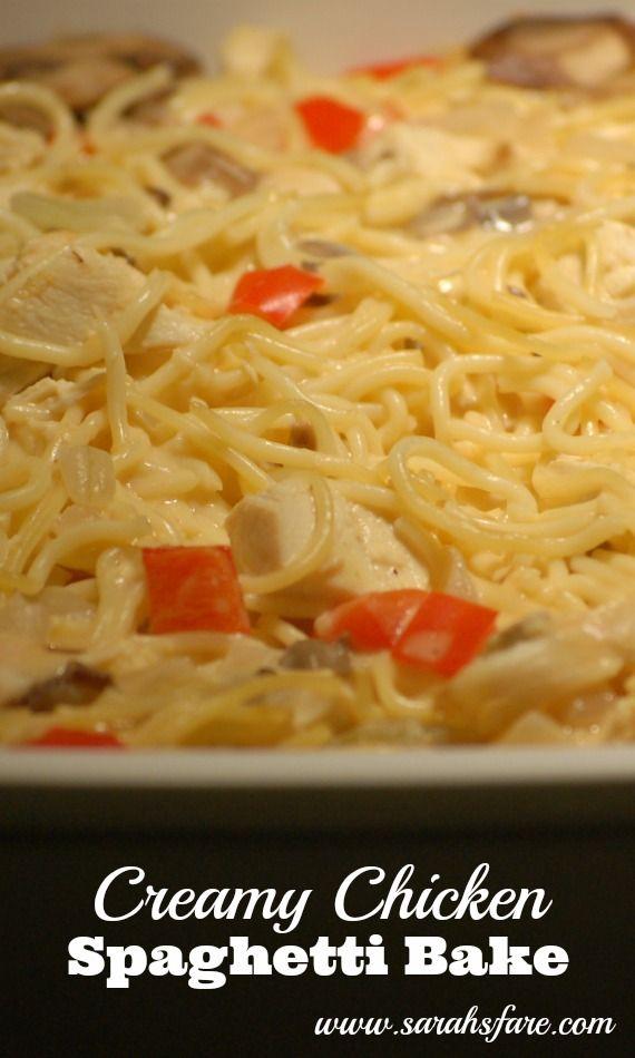 Creamy Chicken Spaghetti Bake | Recipes: Casseroles | Pinterest