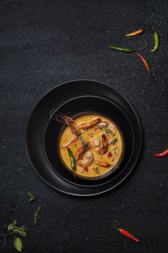 Beautiful food photography - soup, layers, simple.