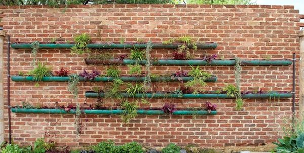 Repurpose copper gutters into a beautiful and space saving garden planter.  These would be perfect for a succulent gardern!