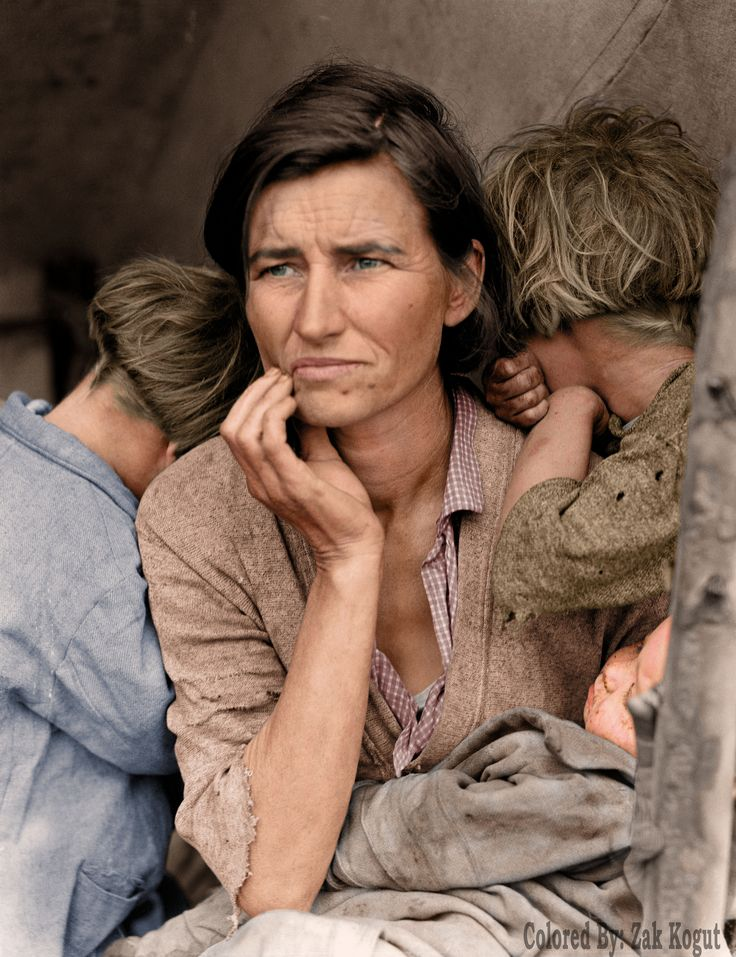 Florence Owens Thompson (September 1 1903  September 16 1983) born Florence Leona Christie was the subject of Dorothea Lange's photo Migrant Mother (1936)