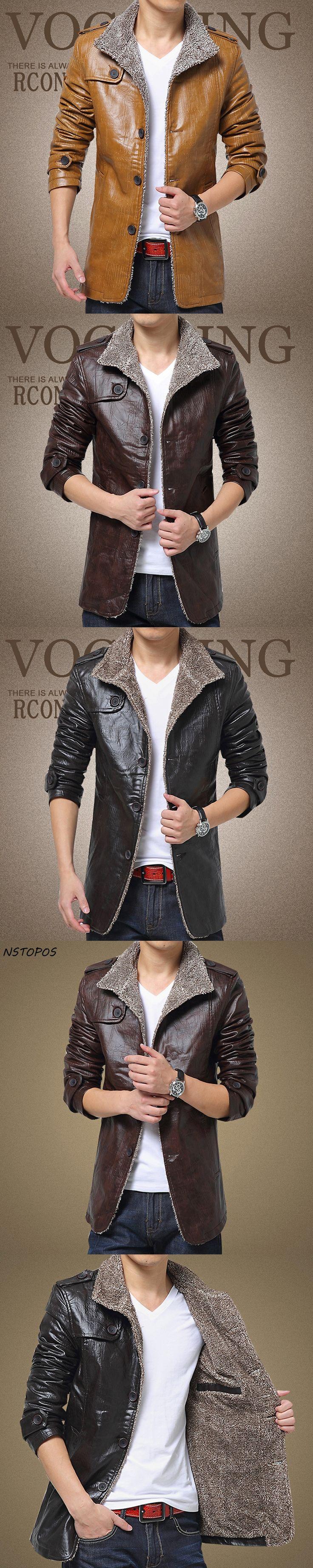 Autumn and winter coat  men's PU leather jacket slim motorcycle leisure suede windbreaker Jacket  blouson cuir homme