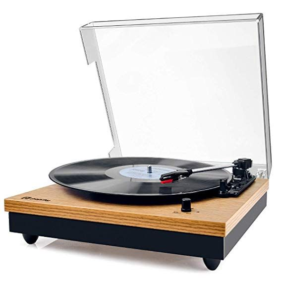 Amazon Com Record Player Popsky Vintage Turntable 3 Speed Bluetooth Record Player With Speaker Portable Bluetooth Record Player Record Player Speakers Record Player