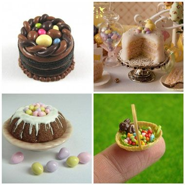 how to make a miniature easter garden
