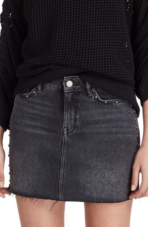bb9f2c1a3b7 Allsaints Studded Denim Skirt. Allsaints Studded Denim Skirt Black Denim  Skirt Outfit ...