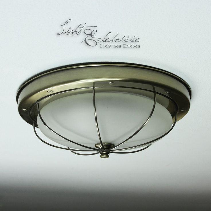 Grosse Deckenleuchte Deckenlampe In Messing Jugendstil Grnderzeiter Lampen Licht