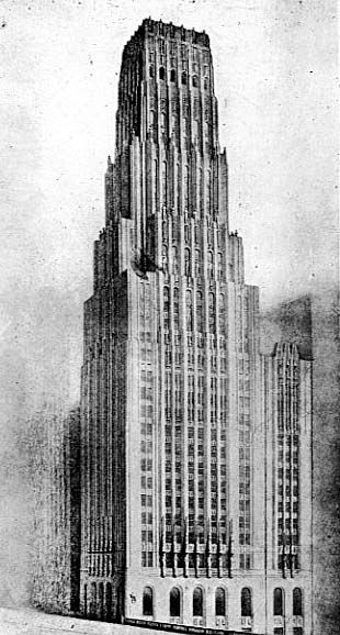 Eliel Saarinen  Chicago Tribune Tower  Competition Drawing, 1922.  THIS is the design that should have won.