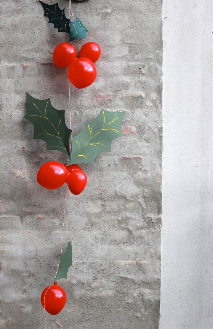 Homemade Christmas Decorations With Holly : Best party ideas diy balloon decorations images on