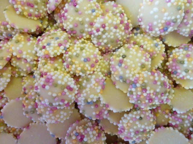 White jazzies snowies snowdrops white chocolate from 100 grams