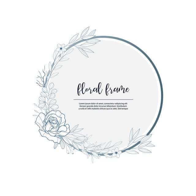 Floral With Drawn Style Beautifulframe Bordersummer S Png And Vector With Transparent Background For Free Download How To Draw Hands Floral Vector Png Geometric Nature