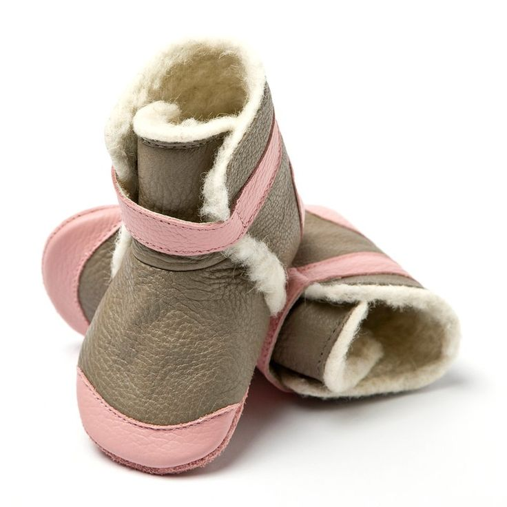 Liliputi® soft soled booties - Alps Grey #softleatherbabyboots #babyboots #winter