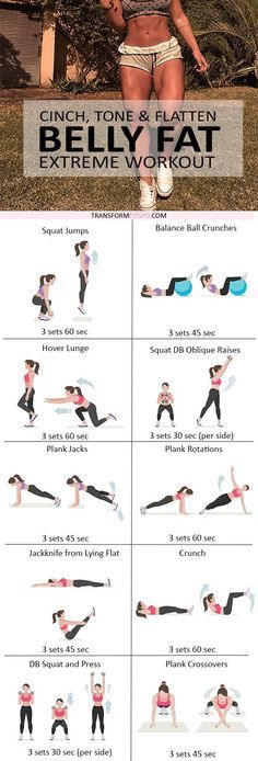 Repin if you loved this workout to tone and tighten your belly! It's a killer, but it works so well! Read the post for all the workout information!