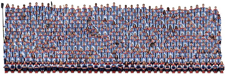 all 541 Team Great Britain members on the eve of the Olympics.