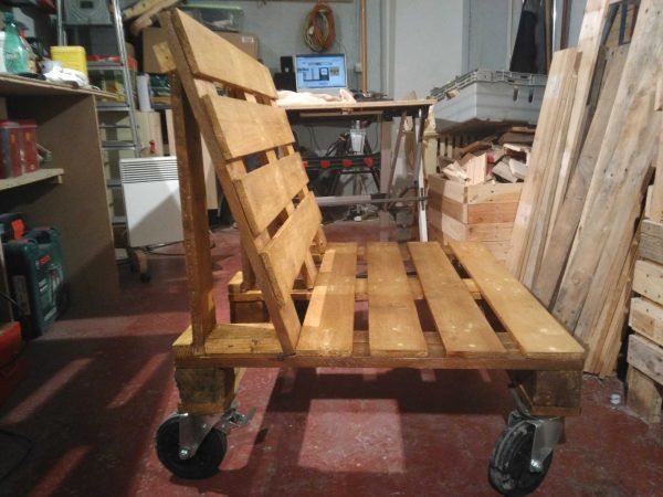 Pallet Bench On Wheels Benches U0026 Chairs