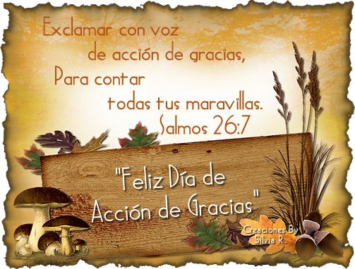Imagenes Feliz Día De Acción De Gracias Con Mensajes Biblicos