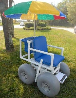 how to build a beach wheelchair
