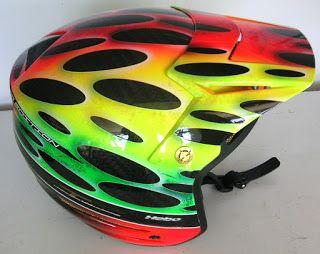 Hebo Open Hand Painted Helmet #148 ~ Hand Painted Helmets - Design your helmet today..!!