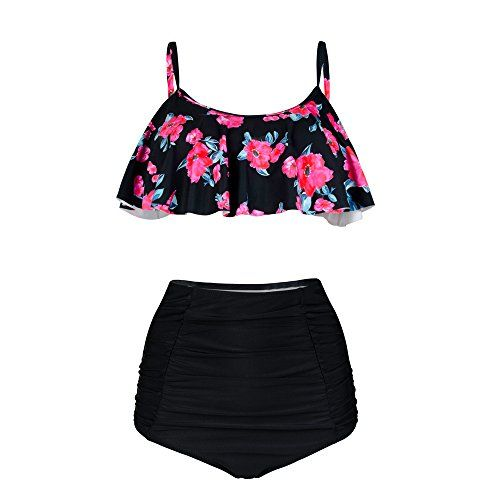 New PZZ BEACH High Waist Swimsuits Flouncing Two Piece Womens Beachwear Bikini  Set online. Find