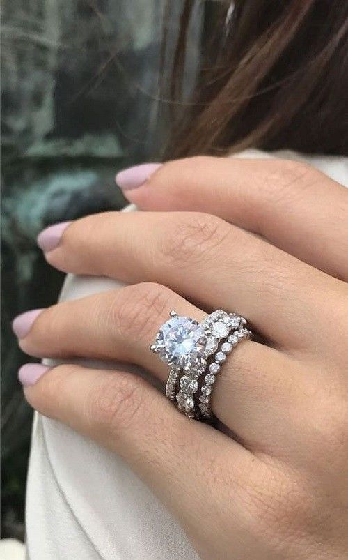 3 Band Wedding Rings The Rings Pinterest Engagement Rings