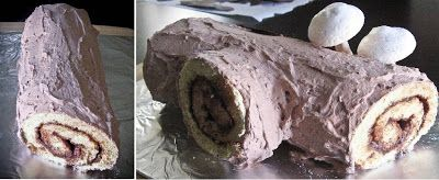 Step by Step Bûche de Noël or Yule Log Cake | Sprinkle Bakes