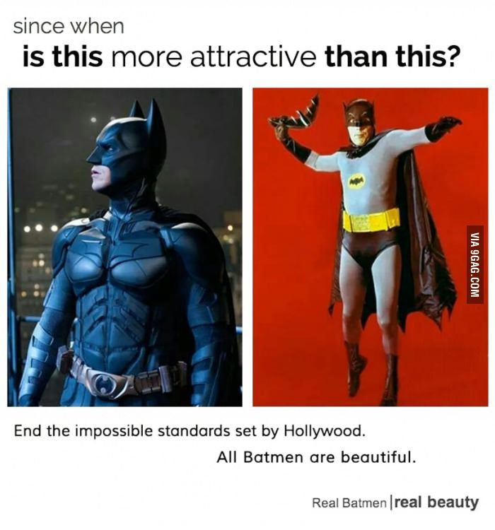 One love for The Batman <<<-- They're all beautiful, but as for me, 60's Adam West Batman will always be MY Batman.