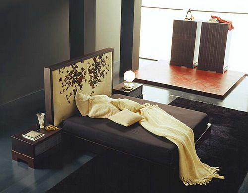 asian style luxury bedroom furniture design