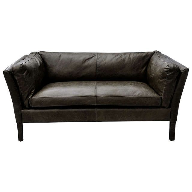 buyhalo groucho small leather sofa black online at