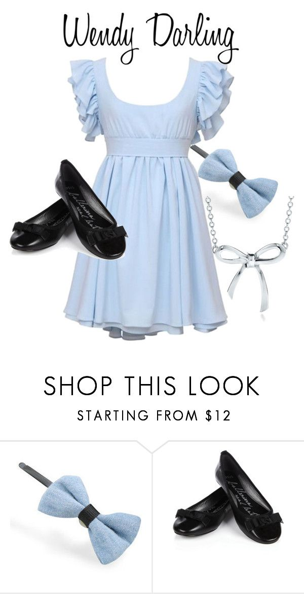 """""""Wendy Darling"""" by adisneygirl ❤ liked on Polyvore featuring Fit-to-Kill, Oasis, Tiffany & Co., wendy, bow, pixie dust, disney, peter pan, classic and movie"""