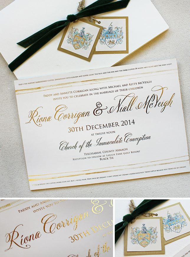 toronto wedding invitations%0A Riona C   Classic Family Crest Wedding Invitations