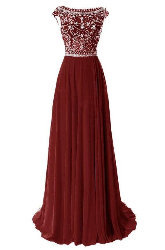 Beading Long Prom Dresses Party Dress Formal Dress