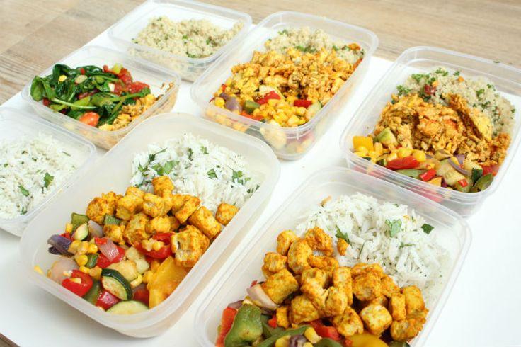 Maaltijd voorbereiden mealprep gezonde lunch