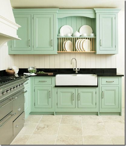 Drip Rail Kitchens Mint Green Green Cabinets House Kitchen Ideas