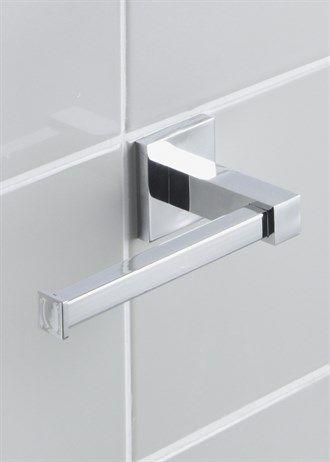 Chrome Wall Mountable Toilet Roll Holder (16cm x 6.5cm)