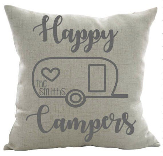 Happy Campers Personalized Pillow Camping Pillow Camper