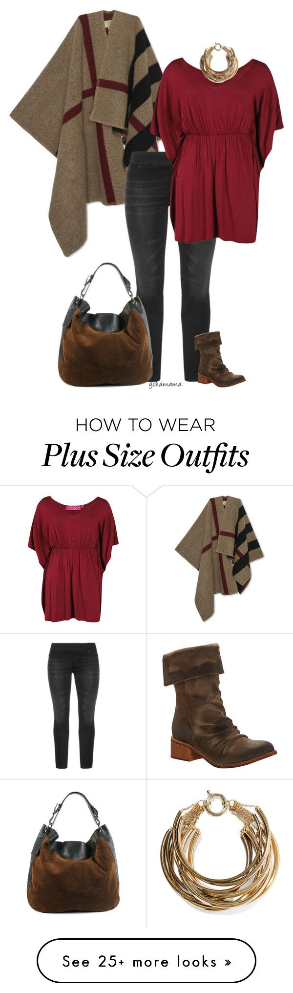 """""""So simple- plus size"""" by gchamama on Polyvore featuring Burberry, Antelope, Ralph Lauren and Rosantica"""