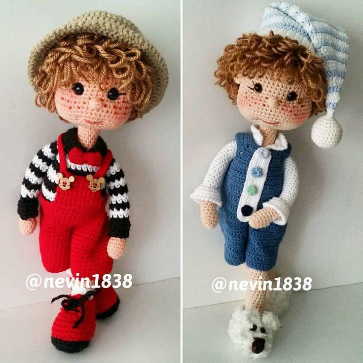 How to crochet doll boy - YouTube | 736x736