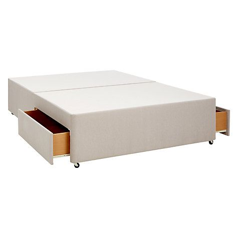 Two Drawer Divan Storage Bed, Pebble £225