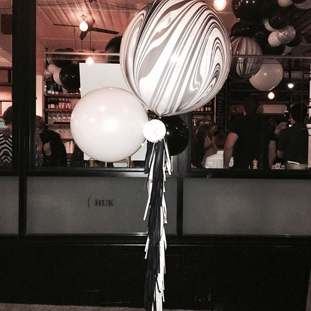 More details from the Surprise 70th   #surpriseparty #70thbirthdaycelebration #blackandwhite #jumboballoons #tassels #garland #celebration #sydneyballoons