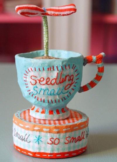 so charming Crafts Ideas, Vanessa Cabban, Papel Mache, Paper Mache, Teacups Crafts, Paper Clay, Papier Mache, Papel Machê