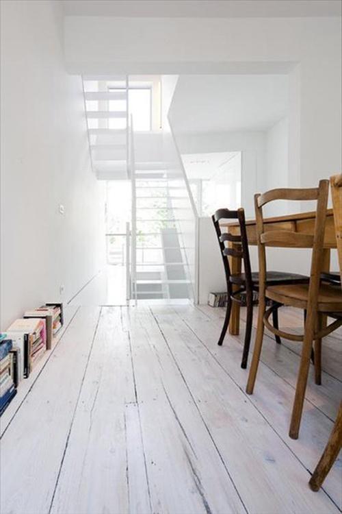 White wooden floor #flooring ༺༺  ❤ ℭƘ ༻༻