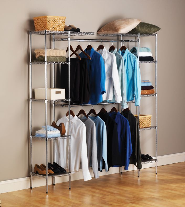 h systems storage b w white walkin x organizers compressed wood the organization free n closet depot in d home standing